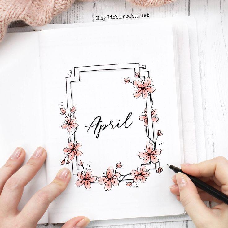 Bullet Journal Bujo Lettering Caligraphy Flowers Draw Desenho