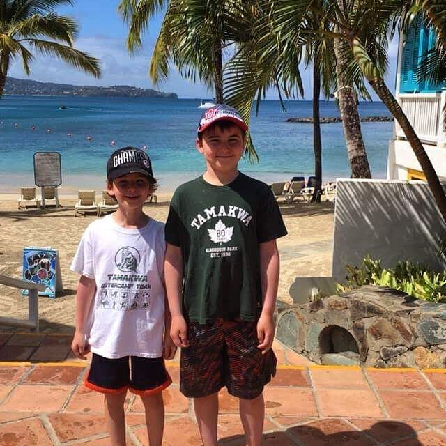 Happy #TamakwaTuesday!! The cooper family shows their #tamakwaspirit on their recent vacation! Hope you had a blast!!! #tamakwaspirit #tamakwatravels #tamakwatshirt