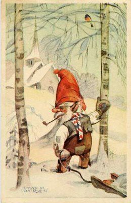 Norse Yule | the traditional pagan nisse is about the size of a child, bearded ...
