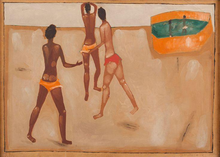 Jerzy Nowosielski, Plaża, 1957, własność: MNK
