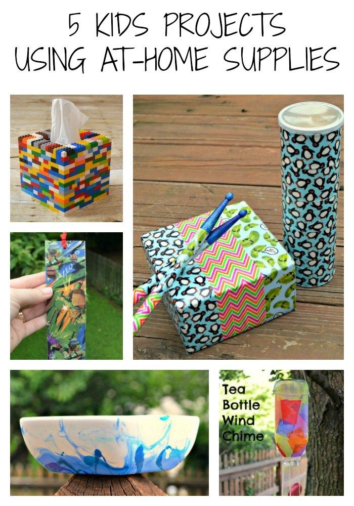 5 Kids Projects With At Home Supplies In 2020 Projects For Kids
