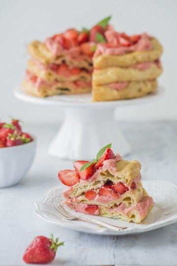 #karpatka #tort truskawkowy #delektujemy #strawberry #cake #truskawki