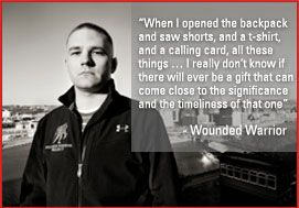 Your generous, tax deductible donation to the Wounded Warrior Project enables us to help the thousands of wounded warriors returning home from the current conflicts and to provide assistance to their families. As the number of wounded steadily increases, it is easy to see how the needs of these brave individuals also increase.