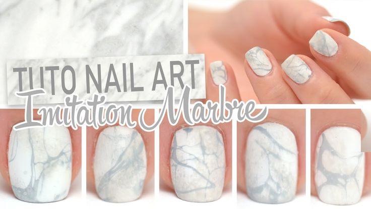 Voici un nail art chic et épuré imitation marbre, pour lequel j'ai utilisé de la laque à cheveux ♡ Et forcément je pense à ma belle Enjoyphoenix qui adore ce...
