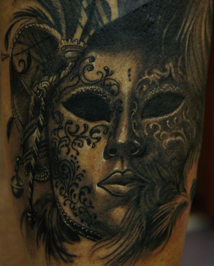 Dicas e Fotos de Tatuagem de Máscara Veneziana | Fotos de Tatuagens