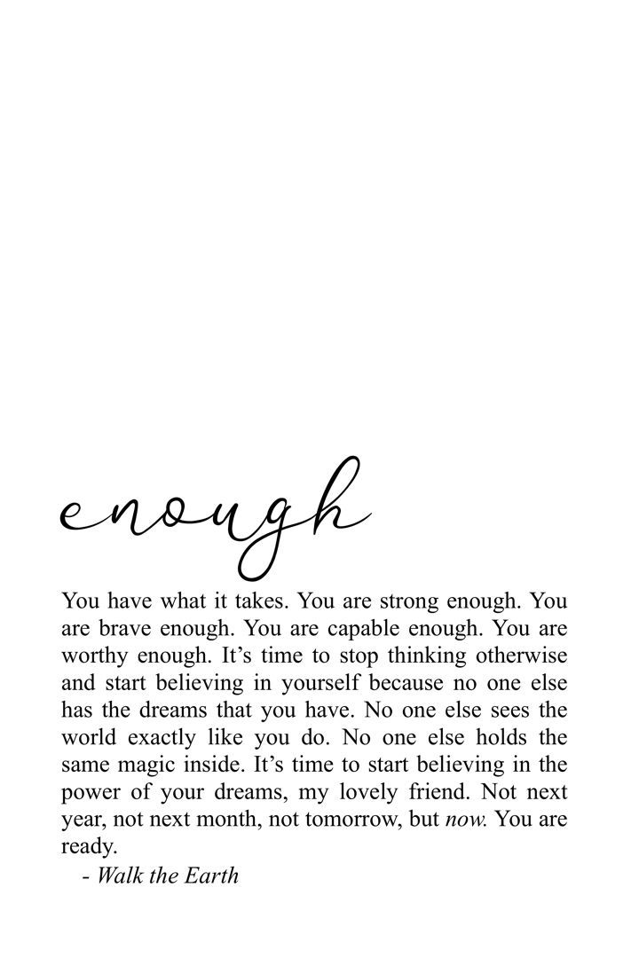 Bravery Courage You Are Enough Quotes Poetry For The Soul