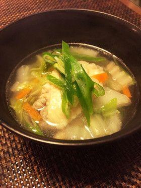 コラーゲンたっぷり◎手羽先と白菜のスープ by *あずりん* [クックパッド] 簡単おいしいみんなのレシピが253万品