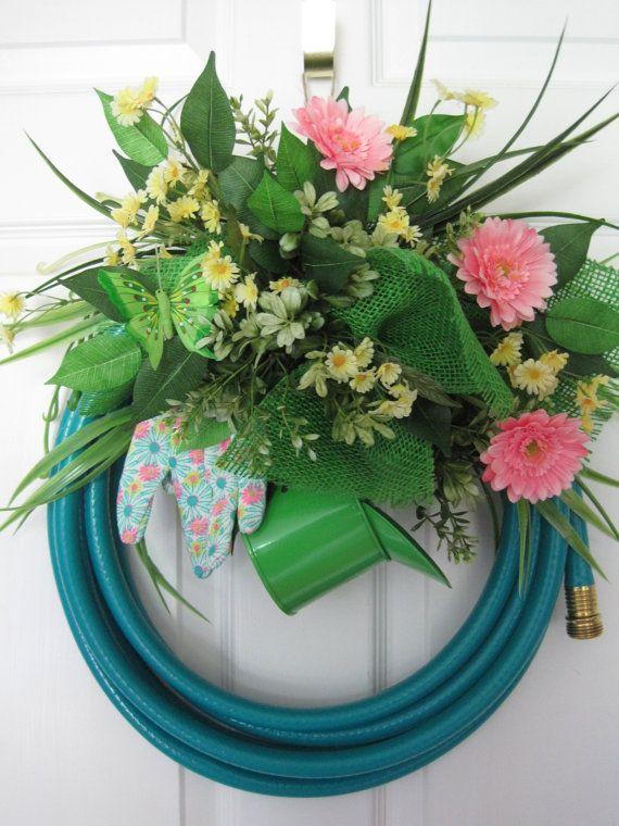 TURQUOISE GARDEN HOSE Wreath