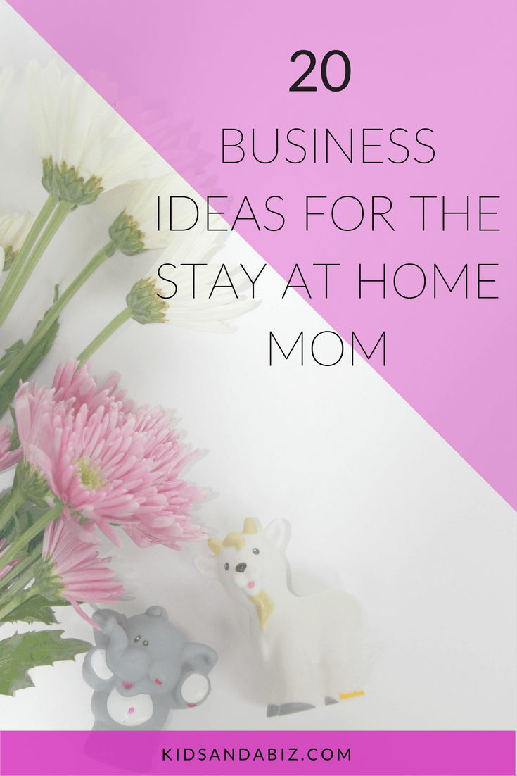20 Business Ideas for the Stay at Home Mom