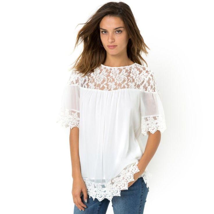 que es un personal shopper - blusa blanca brocada