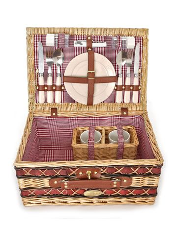 Rustic Picnic Basket