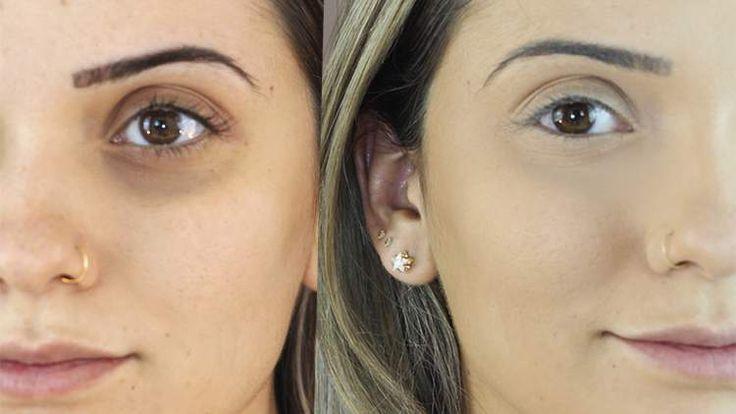 truque de maquiagem para disfarçar olheiras