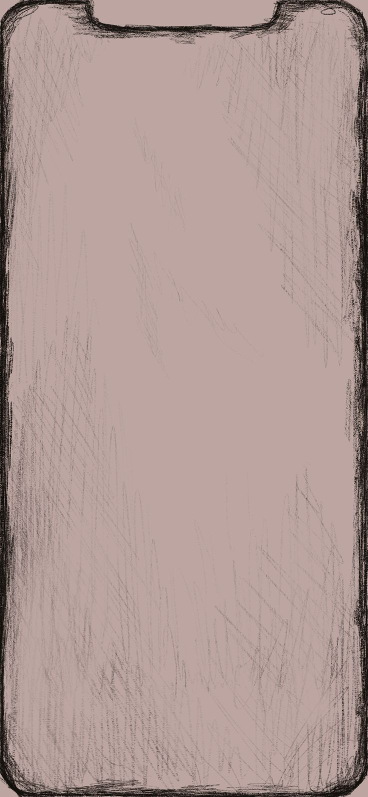 Sketched Border Wallpaper for Xs Max (Four Other Colors)