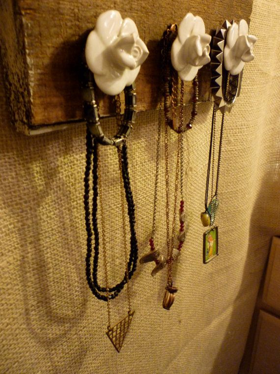 Upcycled Jewelry Organizing Display (Wood Plank)