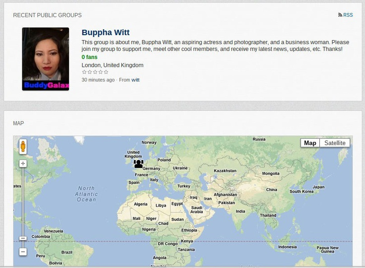 Read blog about Buppha Witt's group on BuddyGalaxy.com