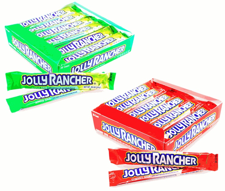 Jolly Ranchers- apple, lemon and watermelon are the best!
