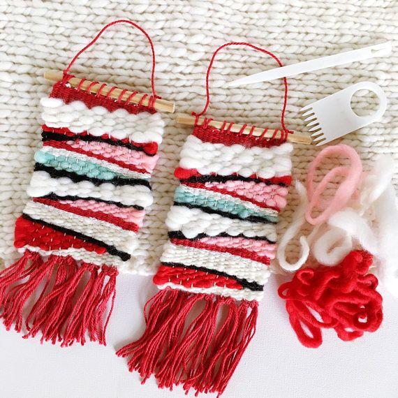 MINI Woven Wall Hanging / Woven Wall Art Tiny / Miniature Weaving