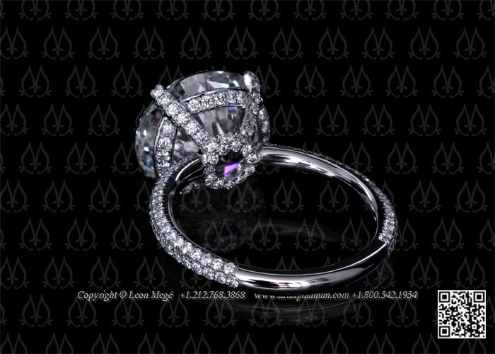 Solitaire engagement ring settings by Leon Mege
