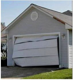 garage door brace33 best Garage Door FailsOff Track images on Pinterest  Garage