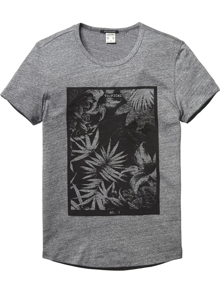Flower Print T-Shirt |Jersey s/s tee's & tops|Men Clothing at Scotch & Soda