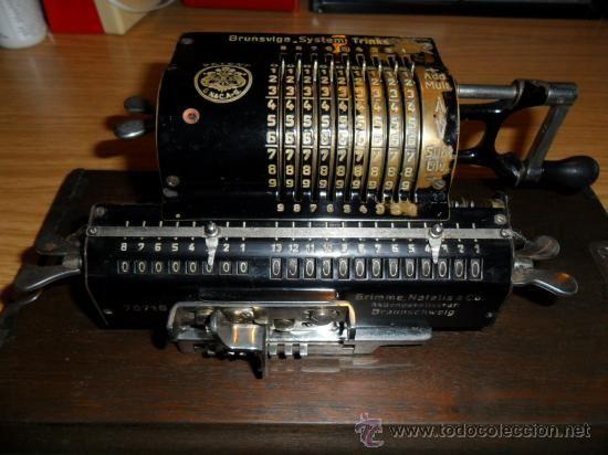 Antigua Calculadora Manual Brunsviga Old Tech