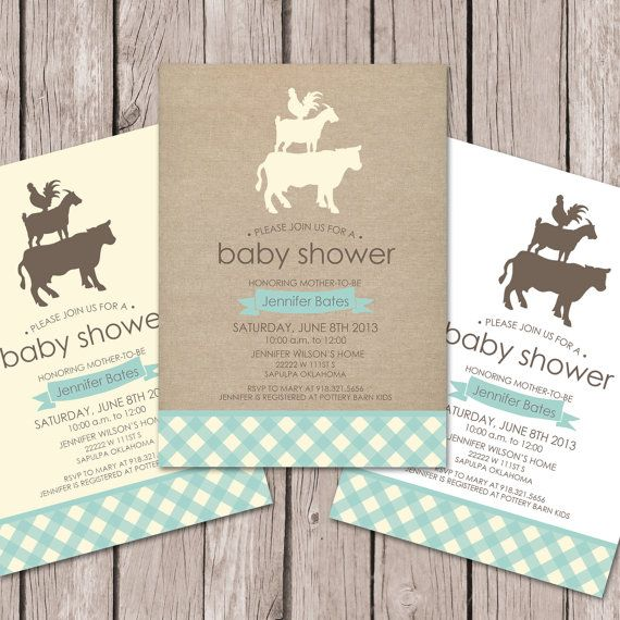 Farm Baby Shower Invitation // Baby Shower by papernoteandco, $15.00 THESE ARE THE ONES I WANT!!!!!!!!!!!!!!!!!!!!!!