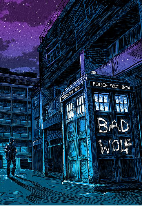 Bad Wolf Tardis - The 30 Very Best Pieces Of Fan Art Of 2013