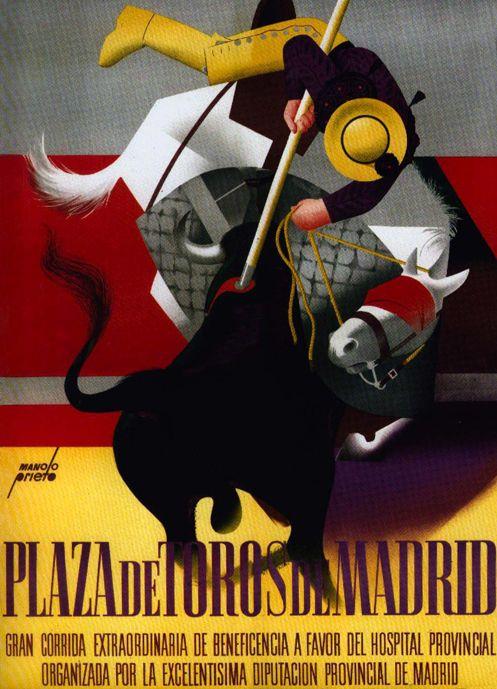 «Manolo Prieto: 1er premio concurso carteles beneficencia Madrid (1952)». | Ya veo porqué.