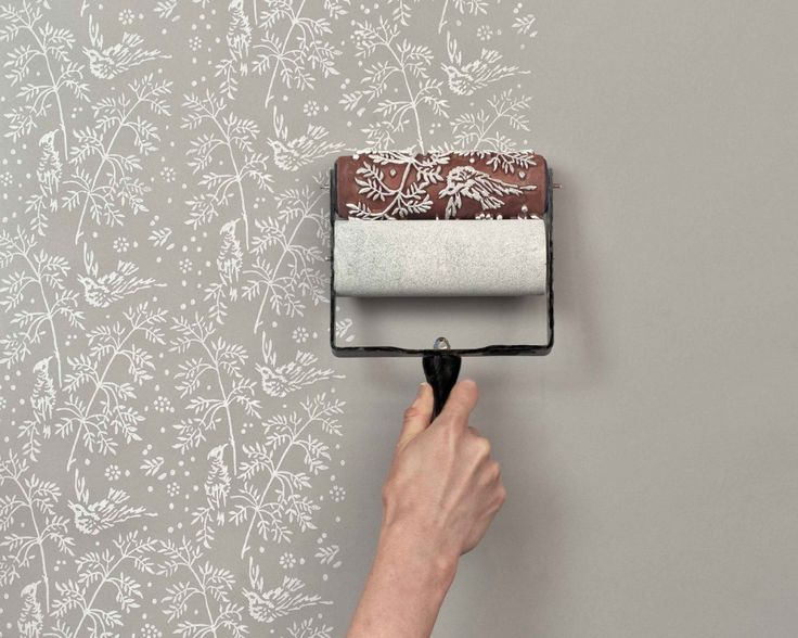 Much better than wallpaper!! These patterned paint rollers from The Painted House are clever tools for recreating the look of traditional handmade block-printed fabric or wallpaper in your home.