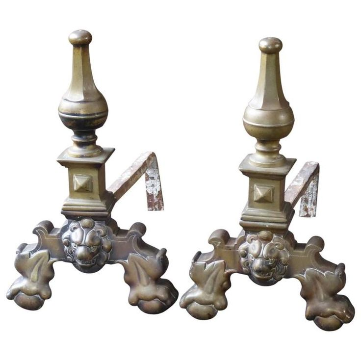 17th Century Louis XIV Firedogs or Andirons | From a unique collection of antique and modern fireplace tools and chimney pots at https://www.1stdibs.com/furniture/building-garden/fireplace-tools-chimney-pots/