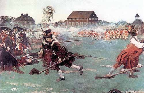 The Battle of Lexington and Concord first began on April 19, 1775. The british heard that the americans were holding large amounts of weapons at Concord, so they sent vast amounts of troops their. The british ran into a blockade at Lexington, then were beaten at Concord.