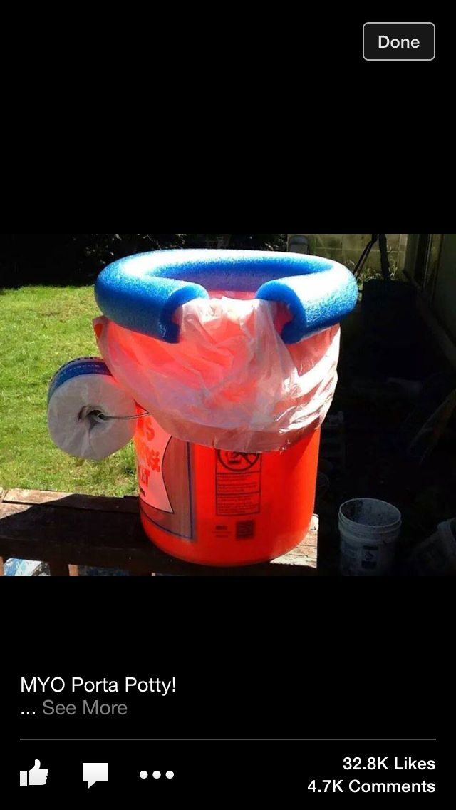 Easy To Make Camping Potty This Is Humorously Creative No Link Just Picture