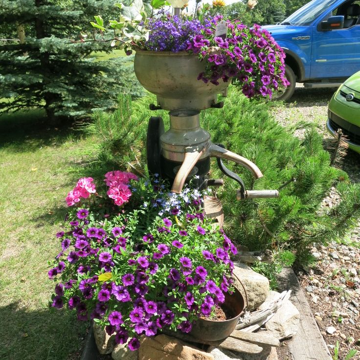 cream separator planter garden accessories pinterest