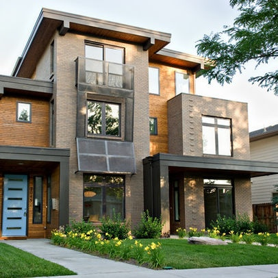Contemporary exterior duplexes design ideas pictures for Modern duplex house designs