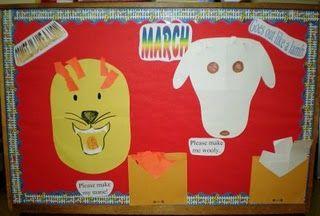 March-in like a lion, out like a lamb bulletin board idea