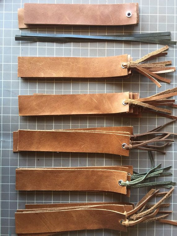 Genuine Leather Bookmark, Handmade