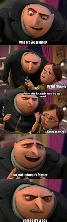 it doesn't matter...................unless it's a boy