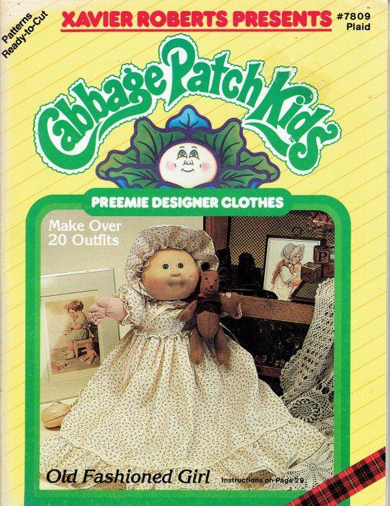 Cabbage Patch Kids Preemie Designer Clothes Pattern Cabbage Patch Kids Patch Kids Cabbage Patch Dolls