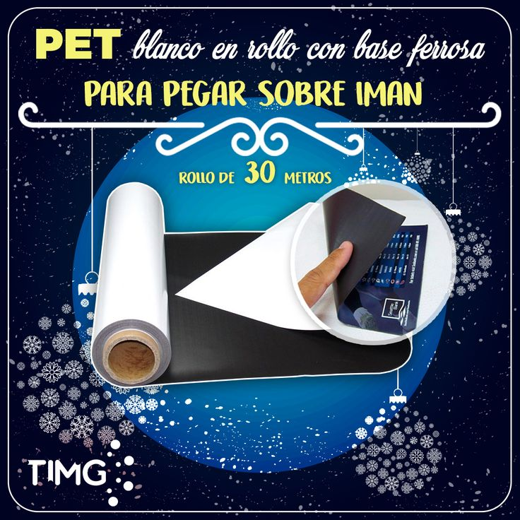 ¡Ya llegaron a #TIMG! Film PP Mágnetico blanco matte para tinta UV, Ecosolvente y Latex. ¡Aprovecha su existencia e #ImprendeconTIMG! Para saber más de este producto ingresa a http://www.suministro.cl/product_p/5301020902.htm