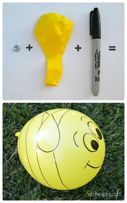 Buzzing Bee Balloon by A Little Tipsy - Super cute and super easy!