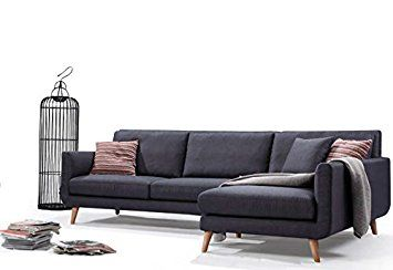 Spiers Sofa Review Swivel Chair And Set Mid Century Modern Fabric Blend Royal Sectional Right Arm Facing Broadway Blue