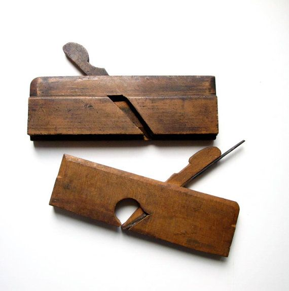 Antique Carpentry Tools Woodworking Wood Plane by BlueRoseRetro, $40.00. have my g'dads' from the 1940's