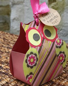 """Paper Owl Gift of template~ """"Look who appreciates you"""" great for a teacher, coach or anyone you want to thank!"""