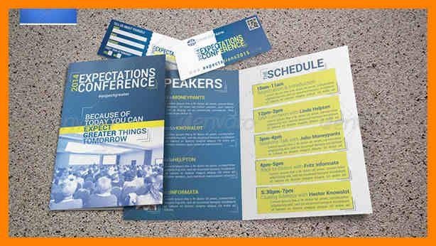 Image Result For Conference Program Template Brochure Brochure