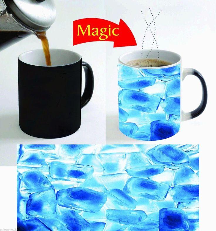 ice cubes mugs coffee mugen tea mugs heat sensitive heat reactive Magic mugen ceramic travel mug home decal