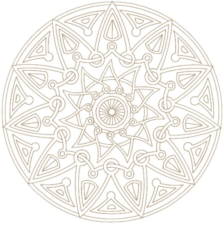 aztec coloring pages - Art Therapy Coloring Pages Mandala