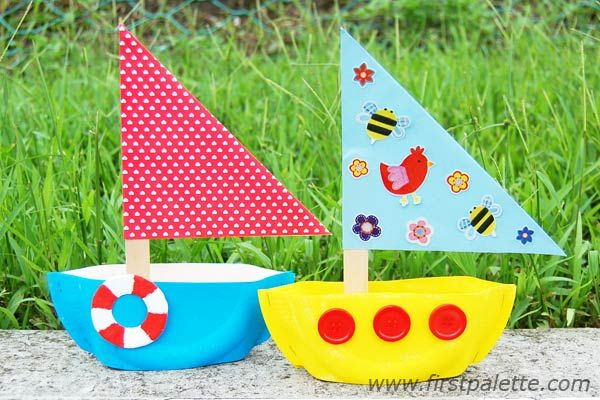 Step 10 Paper Plate Sailboat craft