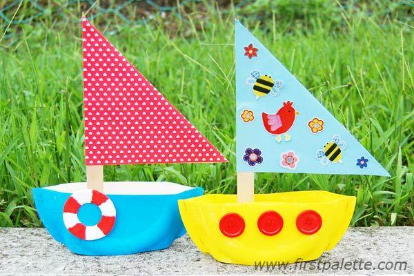 Step 10 Paper Plate Sailboat craft