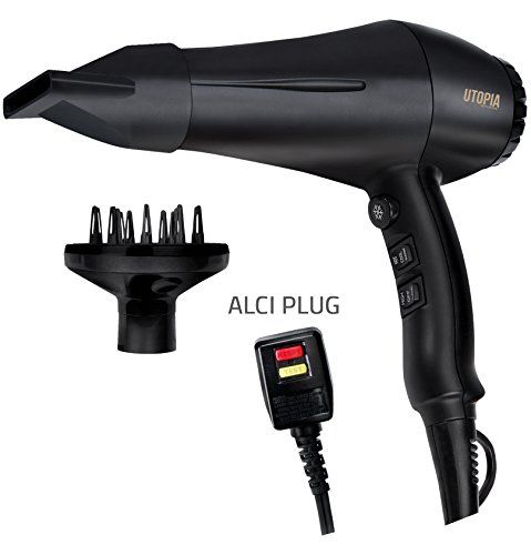Professional Hair Dryer with Diffuser - Negative Ions, Tourmaline Technology and Ceramic Coated Grill - Narrow Air Concentrator and Cool Shot Feature – Speed and Heat Adjustable - by Utopia Home. For product & price info go to:  https://beautyworld.today/products/professional-hair-dryer-with-diffuser-negative-ions-tourmaline-technology-and-ceramic-coated-grill-narrow-air-concentrator-and-cool-shot-feature-speed-and-heat-adjustable-by-utopia-ho/
