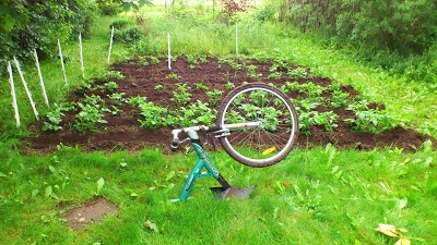 ReCyclet Green Field Cykel med Hyppeplov - ReCycled Bike with Garden Tool - PLZ SEE THE VIDEO!!!